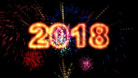 优质2018新年动画 皇族释放例证