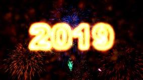 优质2019新年动画 库存例证