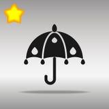 优质黑伞象按钮商标标志的概念 免版税库存照片