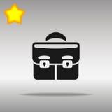 优质黑公文包股份单象按钮商标标志的概念 库存照片