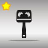 优质黑刷子象按钮商标标志的概念 免版税库存图片