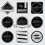优质和优质和保证标签的汇集设计 免版税图库摄影