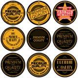 优质和优质和保证标签的汇集设计 免版税库存照片