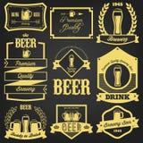 优质啤酒标签设计 免版税库存图片