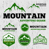优质山冒险传染媒介商标模板 库存例证