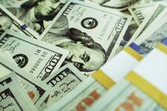 优质货币流通量的照片 免版税图库摄影