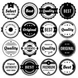 优质徽章和标签要素 免版税图库摄影