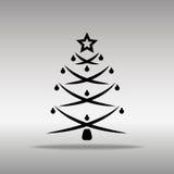 优质黑树象按钮商标标志的概念 免版税库存照片