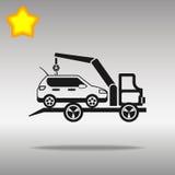 优质黑汽车抽空装置象按钮商标标志的概念 免版税库存照片