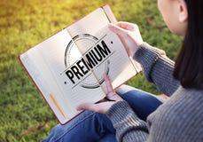 优质的服务保证的优质质量概念 免版税库存图片