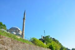 优素福- Pasina清真寺和老土耳其堡垒 免版税库存照片