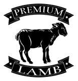 优质羊羔菜单象 库存图片