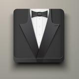 优质象无尾礼服和弓领带。 图库摄影