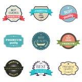 优质质量标签的收集 免版税图库摄影