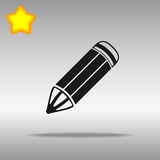 优质黑铅笔象按钮商标标志的概念 免版税库存照片