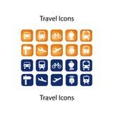伙计图标图标设置了旅行 免版税图库摄影