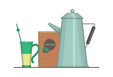 伙伴杯子饮料水壶 向量例证