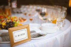 宴会在餐馆 图库摄影