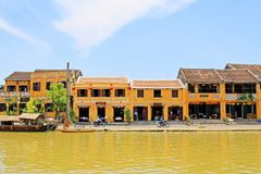 会安市古镇河沿,越南联合国科教文组织世界遗产名录 库存图片
