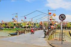 会安市古镇河沿,越南联合国科教文组织世界遗产名录 免版税图库摄影