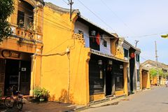 会安市古镇,越南联合国科教文组织世界遗产名录 库存图片