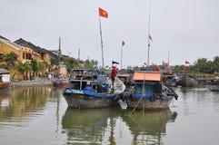 会安市市,越南贸易港  免版税库存图片