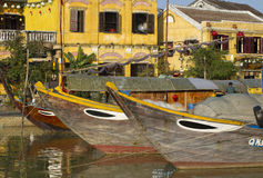 会安市江边,越南 图库摄影