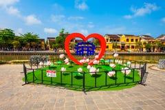 会安市镇标志,越南 库存照片