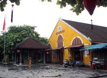 会安市,一个历史日本中国和欧洲国际市场在越南 免版税库存照片