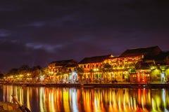会安市,越南- 2017年3月17日:传统黄色大厦在会安市市 会安市是世界遗产和普遍的游人 库存照片