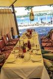 宴会桌集合 免版税图库摄影