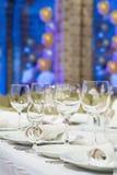宴会桌 免版税图库摄影