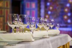 宴会桌 免版税库存照片