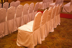 宴会椅子 免版税库存照片