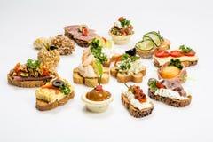 宴会的开胃菜食物 图库摄影
