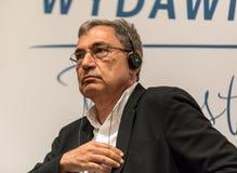 会见土耳其作家,诺贝尔奖得奖者奥尔汗・帕穆克在乘Literar的第65周年的机会克拉科夫 库存图片