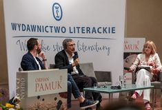 会见土耳其作家,诺贝尔奖得奖者奥尔汗・帕穆克在乘Literar的第65周年的机会克拉科夫 图库摄影