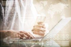 会计和技术概念 免版税库存照片