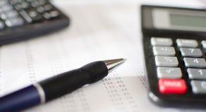 会计桌面 免版税库存图片