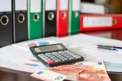 会计桌面 免版税库存照片