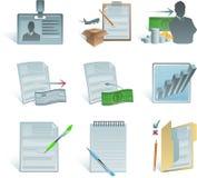 会计科目企业图标 免版税图库摄影
