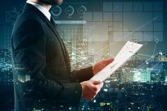 会计科目背景计算器概念现有量查出在白色 免版税库存照片