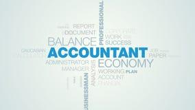 会计经济平衡专业办公室顾问预算文书工作收税商人认为的生气蓬勃的词 库存例证