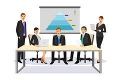 会议例证的商人 免版税库存照片
