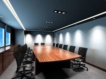 会议办公室空间 免版税库存图片