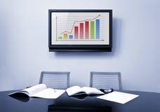 会议办公室表 免版税库存照片