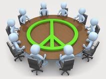 会议和平 皇族释放例证