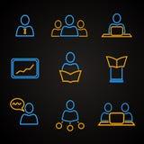 会议和管理象 免版税库存照片