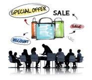 会议和销售概念的商人 库存图片