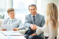 会议商务伙伴 免版税库存图片